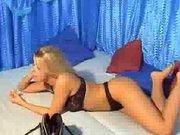 Jaunos studentės striptizo video