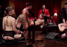 Smagi grupinio sekso orgija su keliomis elitinėmis prostitutėmis ir daug sekso